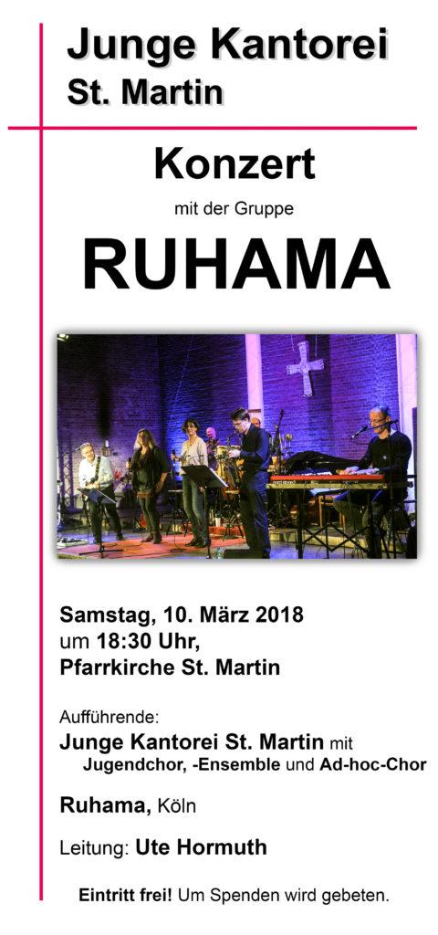 Konzert mit RUHAMA, Köln